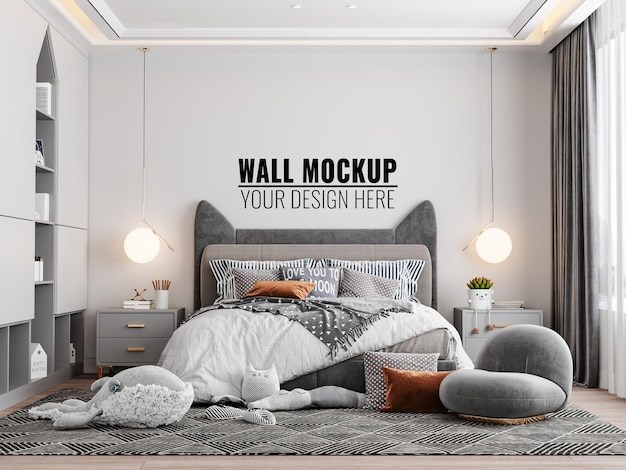 인테리어 키즈 침실 벽 모형