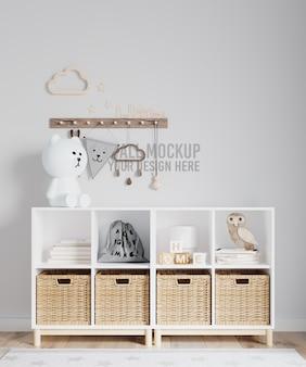 Интерьер детской комнаты, макет обоев