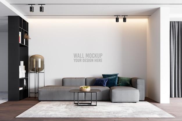 Interior living room wallpaper mockup