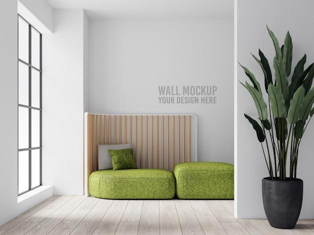 Interior livingroom wall mockup