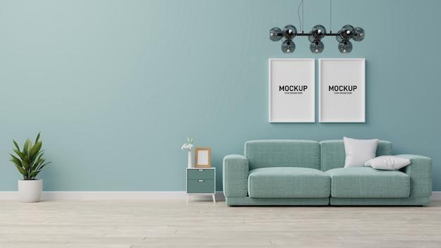 Interior mock up living room. 3d rendering.