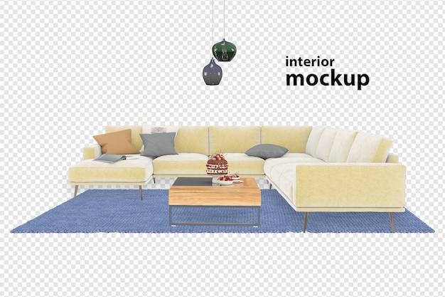Interior mockup 3d rendering