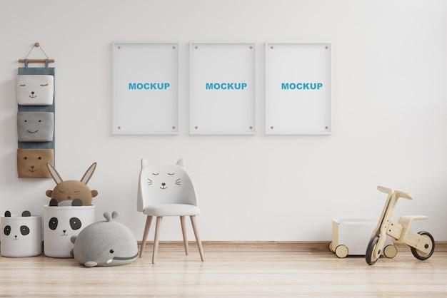 Макет интерьера детской комнаты 3d рендеринг
