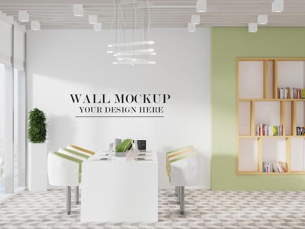 Интерьер современной офисной комнаты, макет стены