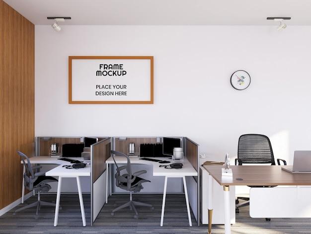 인테리어 사무실 룸 사진 프레임 모형