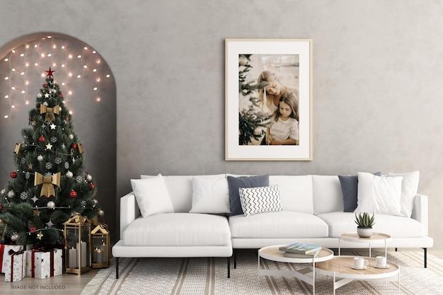 인테리어 포스터는 크리스마스 트리를 조롱합니다.