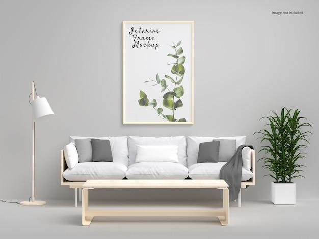 Interior poster vertical frame mockup