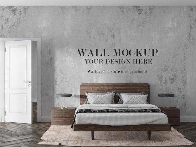 Interior wall mockup in 3d rendering