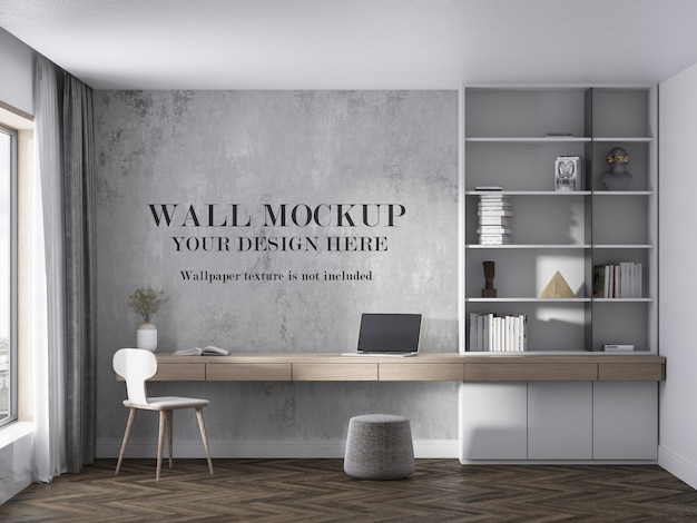 Interior wall mockup with modern furniture