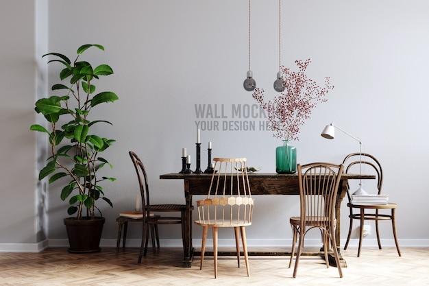 Interior wall mockup