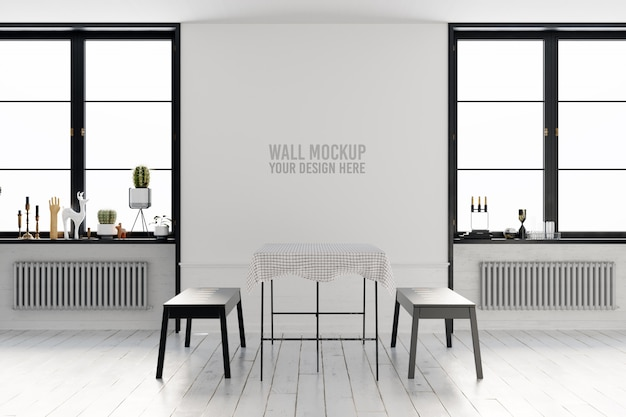 Interior wallpaper mockup