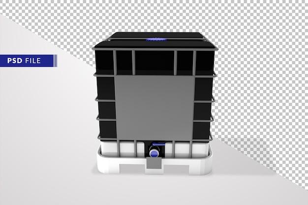 중간 벌크 컨테이너 근접 촬영 3d 렌더링 절연