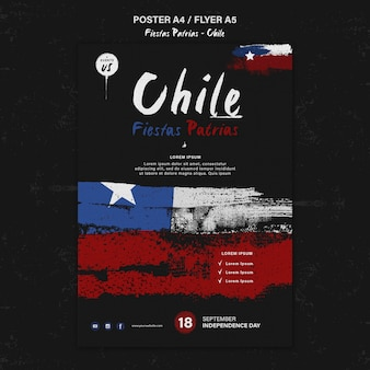 Design del poster della giornata internazionale del cile