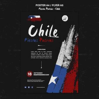 Modello di poster della giornata internazionale del cile