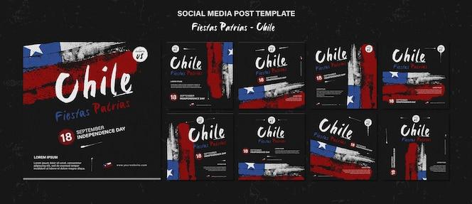国際チリの日ソーシャルメディアの投稿