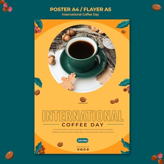 International coffee day flyer
