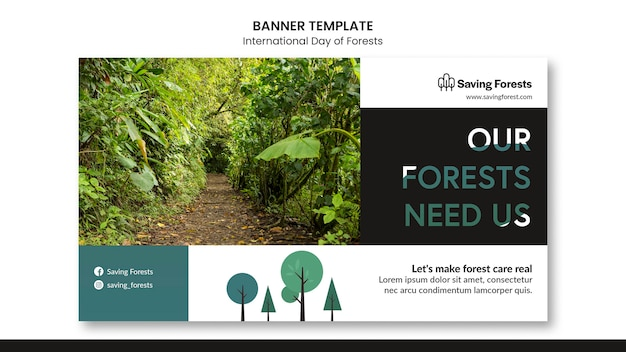 International day of forests banner template