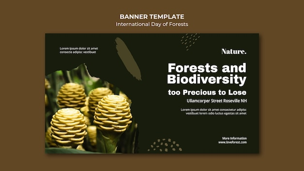 Bandiera della giornata internazionale delle foreste