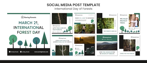 International day of forests instagram posts