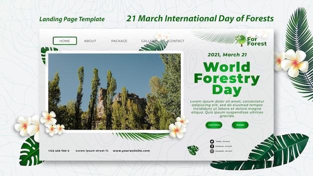 Pagina di destinazione della giornata internazionale delle foreste
