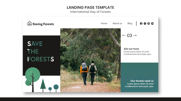 International day of forests landing page