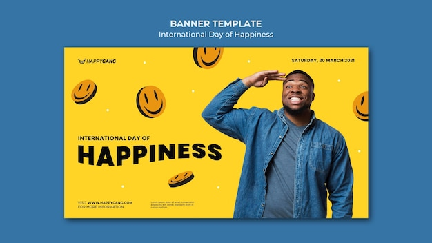Bandiera della giornata internazionale della felicità