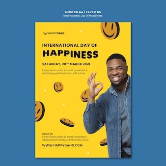 Poster della giornata internazionale della felicità