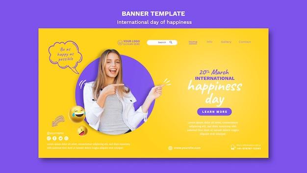 Modello web giornata internazionale della felicità