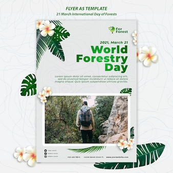 국제 숲의 날 전단지