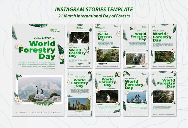 森の国際デーinstagramストーリー Premium Psd