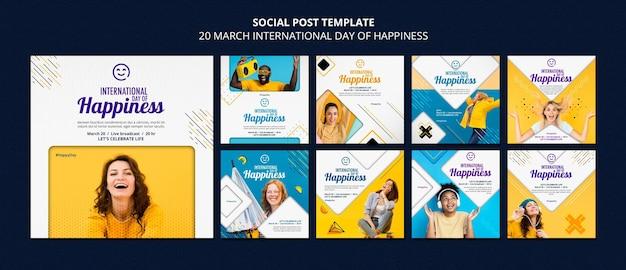 국제 행복의 날 instagram posts