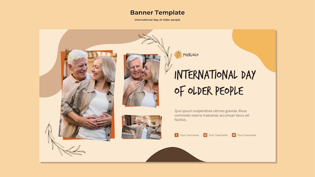 International day of older people banner template
