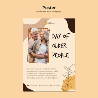 International day of older people poster template