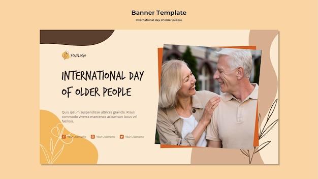 Modello di storie sui social media per la giornata internazionale degli anziani