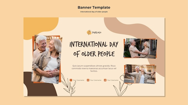 International day of older people template banner