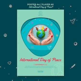 Poster della giornata internazionale della pace