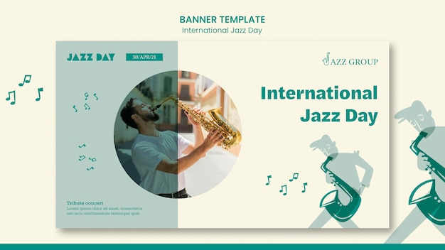 Banner di giornata internazionale del jazz