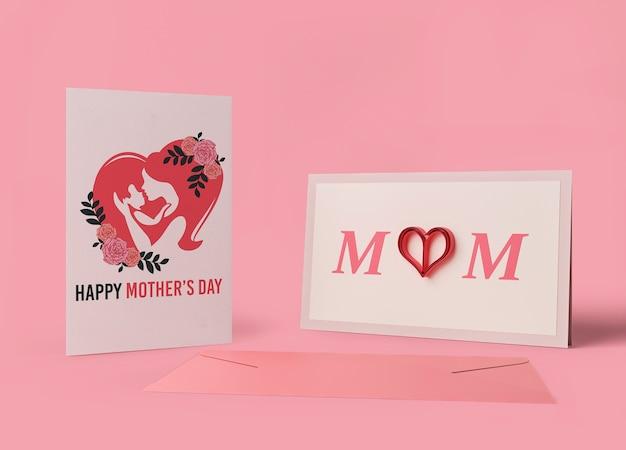 Biglietto festa della mamma internazionale con mock-up