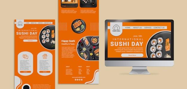 Modelli web di giornata internazionale del sushi