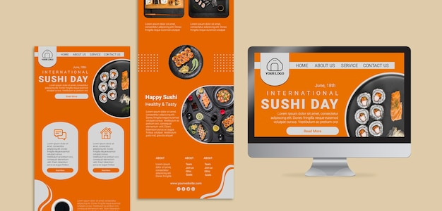 International sushi day web templates