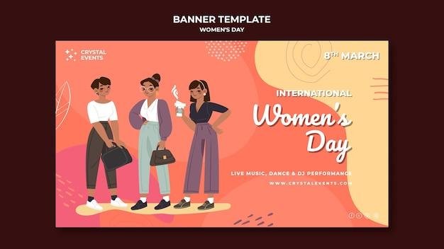 Banner di giornata internazionale della donna