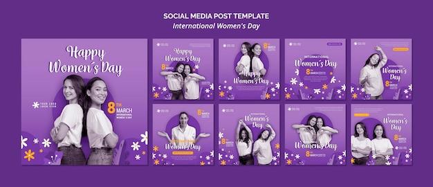 국제 여성의 날 소셜 미디어 게시물