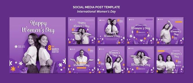 Post sui social media per la giornata internazionale della donna