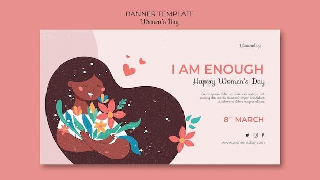 International women's day banner template