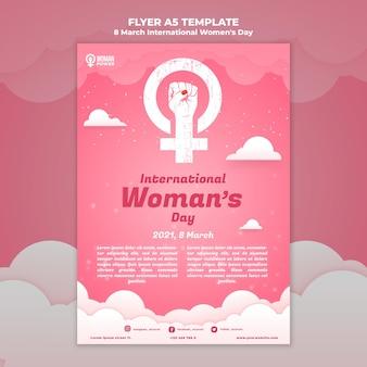 Шаблон флаера к международному женскому дню Бесплатные Psd