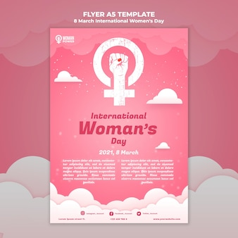 Шаблон флаера к международному женскому дню