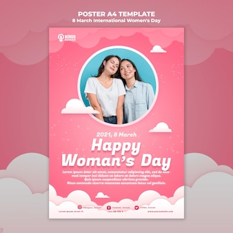 International women's day poster template