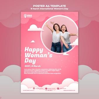 Шаблон плаката к международному женскому дню