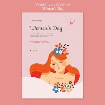 International women's day poster template