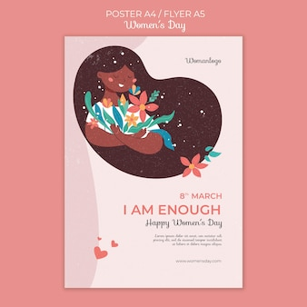 Modello di poster per la giornata internazionale della donna